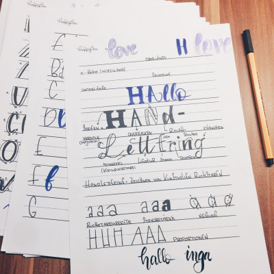 Lettering Workshop mit @happyliee