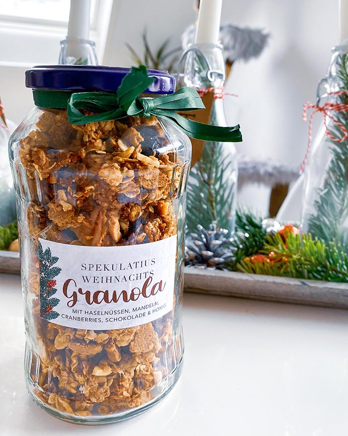 Spekulatius Weihnacht-Granola im Glas