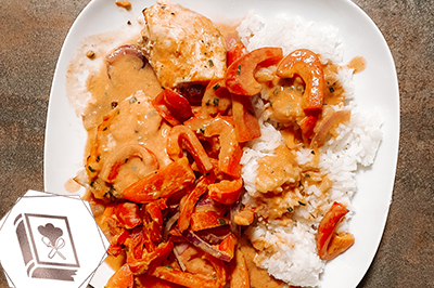 low calorie Paprika Rahm Hähnchen aus dem Ofen