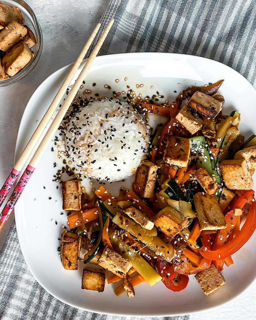 Tofu asia style Gemüse Pfanne